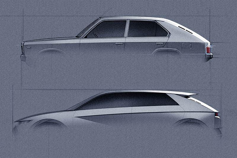 Boven de Pony Coupé Concept, onder de Hyundai 45 Concept.