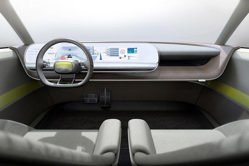 Voor het infotainmentsysteem in de Hyundai 45 Concept wordt gebruikgemaakt van projectie.