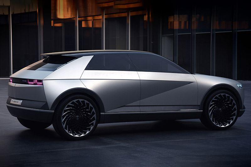 De Hyundai 45 Concept is een studiemodel van een elektrische auto.