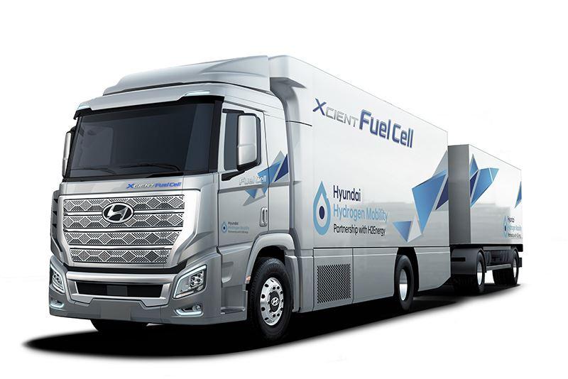 Hyundai levert de eerste 50 waterstoftrucks H2 XCIENT in 2020 aan Zwitserland.