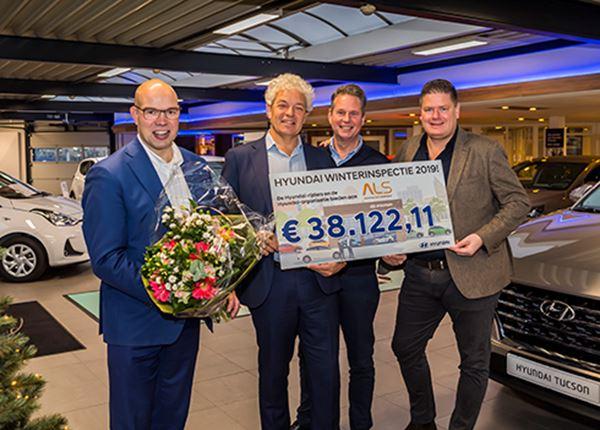 Hyundai-rijders, bedankt voor jullie mooie donatie aan Stichting ALS!