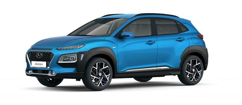 De Hyundai KONA Hybrid legt de nadruk op een zo laag mogelijk benzineverbruik.