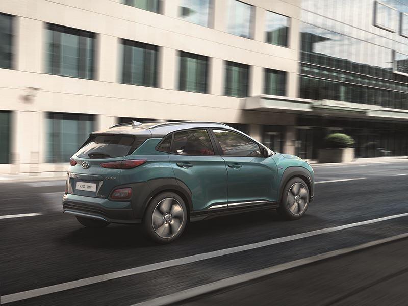 Voor de Hyundai KONA Electric geldt een korte levertijd.