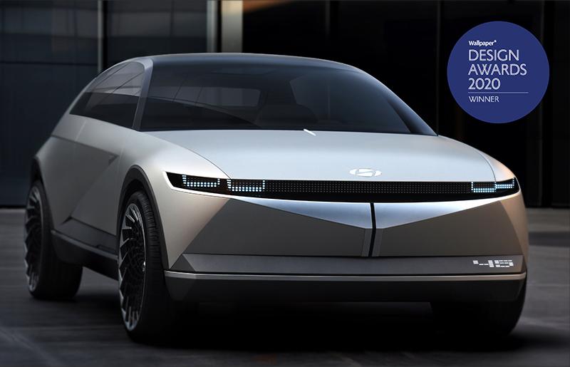 De naam Hyundai 45 is een verwijzing naar de hoeken van 45-graden waarin de voor- en achterzijde zijn getekend.