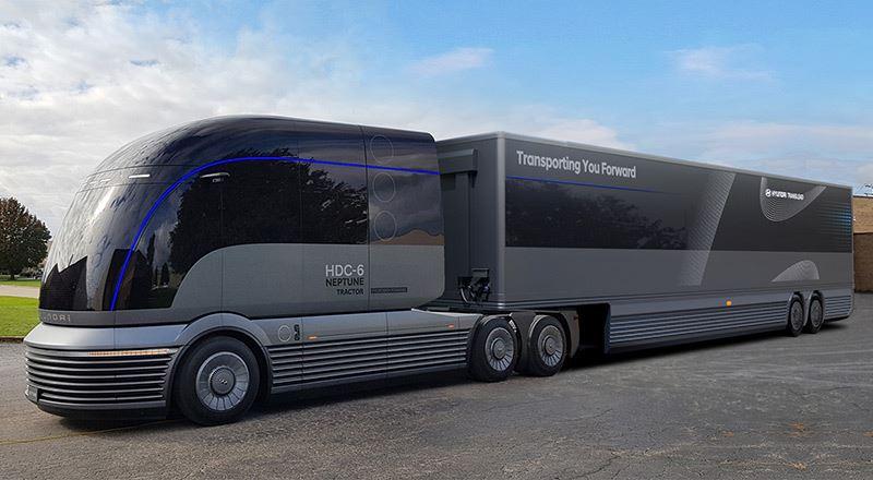 De HDC-6 NEPTUNE is Hyundai's studiemodel van een truck met een brandstofcel.