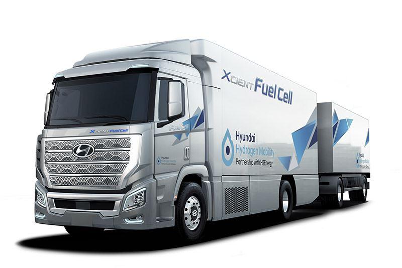 Hyundai levert duizend trucks met een brandstofcel aan Zwitserland. Daarvoor werkt Hyundai samen met H2 Energy.