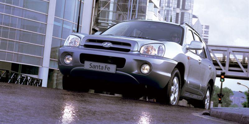 Eerste generatie Hyundai Santa Fe.