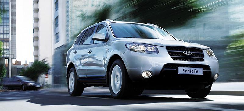 Tweede generatie Hyundai Santa Fe.