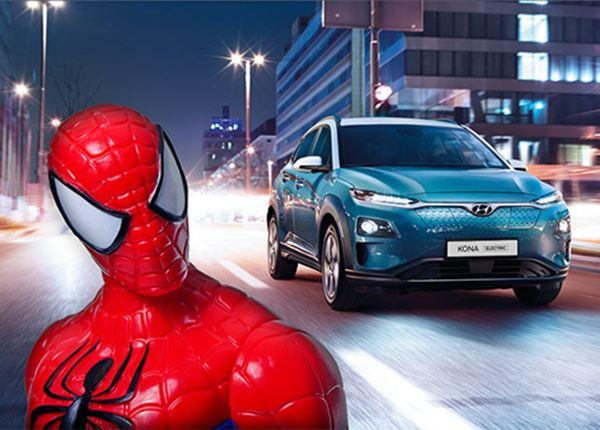 Spider-Man in een Hyundai KONA Electric?