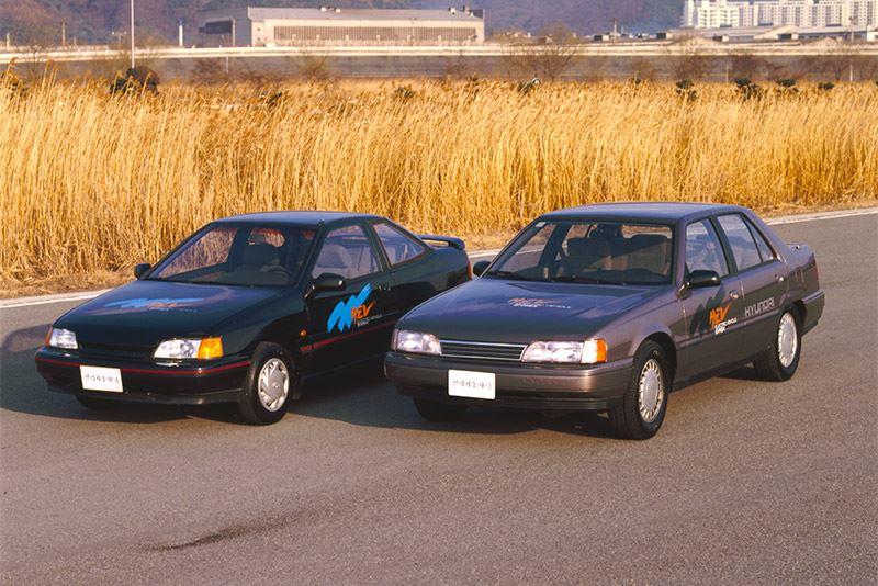 De Hyundai Scoupe en Sonata EV.