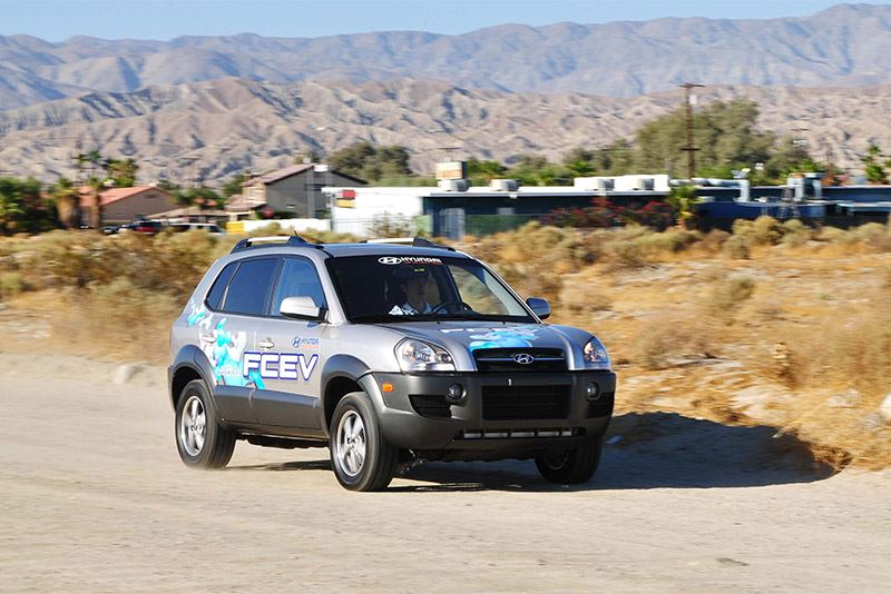 De Hyundai Tucson Fuel Cell Electric Vehicle (FCEV).