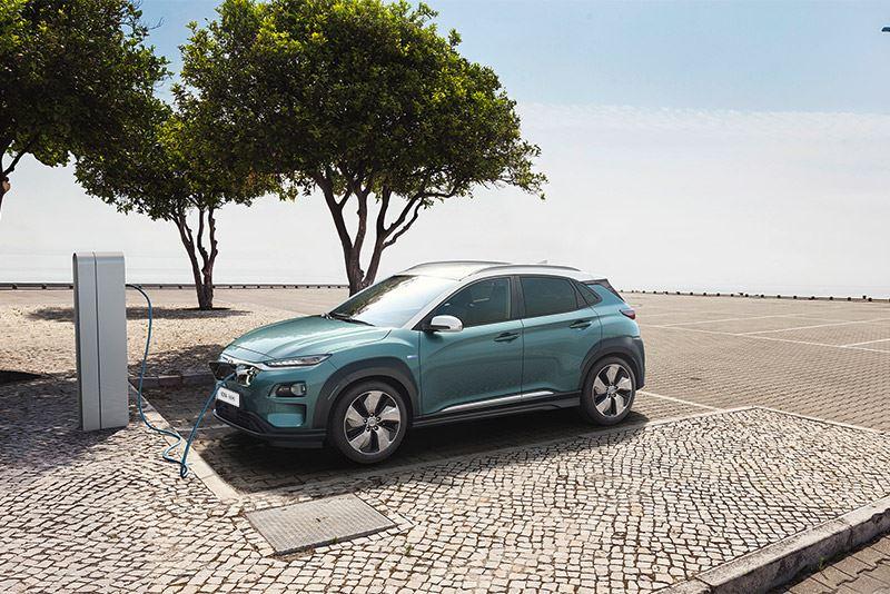 De Hyundai KONA Electric.