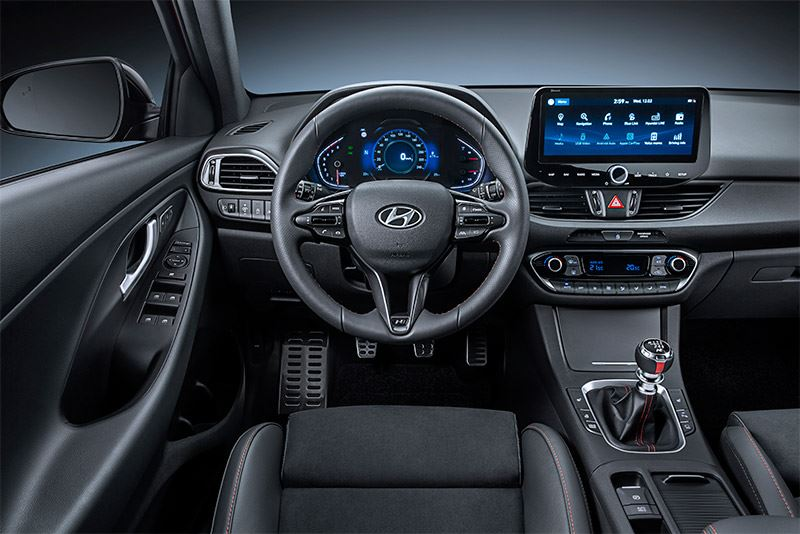 De Hyundai i30 met 10,25-inch multimediascherm.