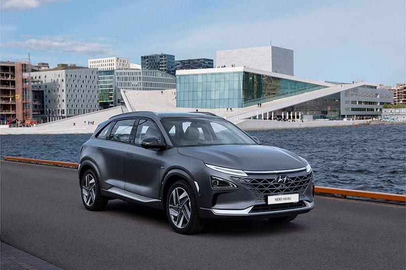 Net als de volledig elektrische KONA Electric en IONIQ Electric stoot de Hyundai NEXO geen CO2 uit.