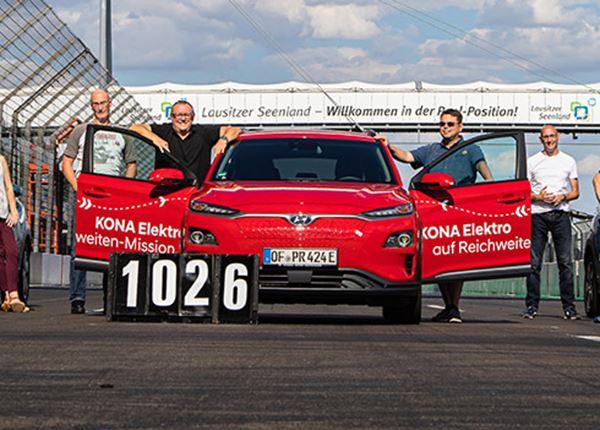 KONA Electric legt 1.026 km af zonder bijladen!