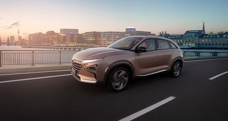 Hyundai is het enige automerk ter wereld met een in serie geproduceerde waterstof-elektrisch aangedreven auto, de NEXO.