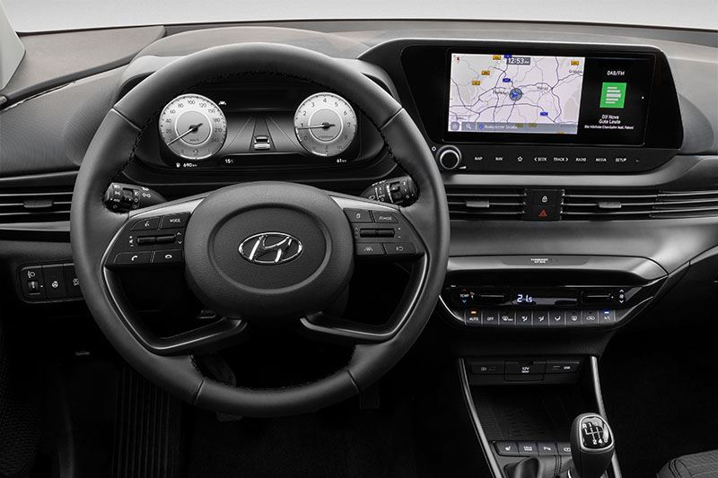 Instrumentenpaneel in de nieuwe Hyundai i20.