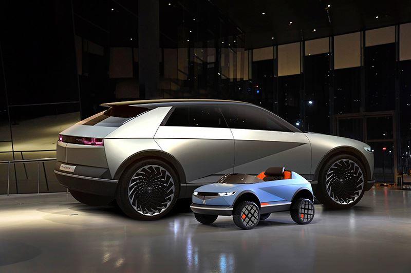 Net als bij de 45 Concept EV is voor de bouw van de mini-EV van Hyundai gebruikgemaakt van ecologische materialen.
