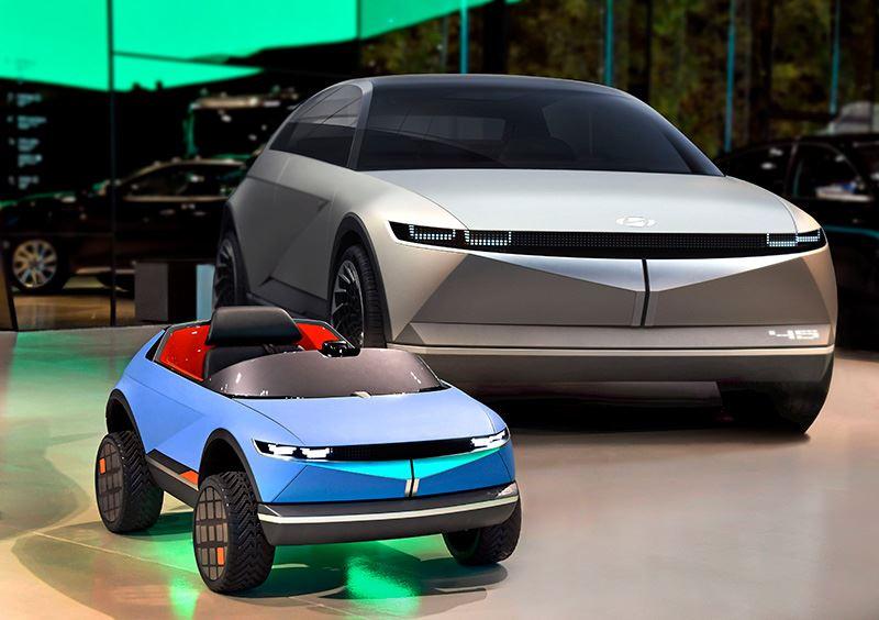 De mini-EV van Hyundai vertoont bijzonder veel gelijkenissen met een andere Hyundai, de 45 Concept EV.