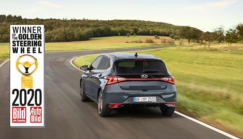 De nieuwe Hyundai i20 wint de Golden Steering Wheel in de categorie Auto's tot 25.000 euro.
