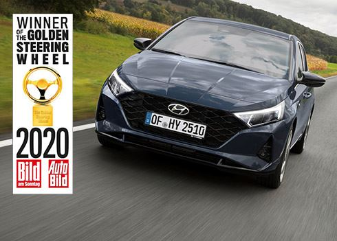 Nieuwe Hyundai i20 wint Golden Steering Wheel