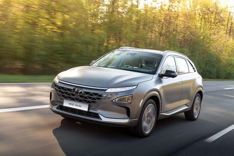 De Hyundai NEXO is een van de weinige in serie geproduceerde waterstofauto's ter wereld.