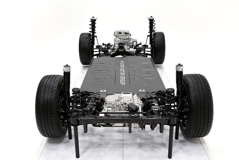 Het nieuwe E-GMP-platform van Hyundai is speciaal ontwikkeld voor toekomstige batterij-elektrisch aangedreven Hyundai's.